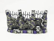 Miniature Skull Fence Skeletons Halloween Cemetary Fairy Garden Decor