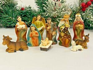 Traditional Nativity Set 11 Figures Christmas Holy Ornament #18