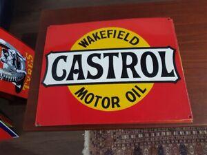 Castrol New Quality Porcelain Enamel Sign