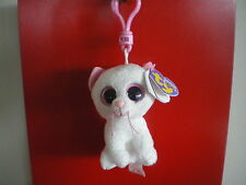 Ty Beanie Boos CASHMERE the cat 3  inch KEYCLIP NWMT. RETIRED - IN STOCK NOW
