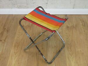 toller alter Klappstuhl Kult Retro Stuhl 70er Jahre Camping Klapp Hocker Vintage