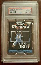 2003 Topps Chrome Basketball Foil Pack PSA 10 GEM MINT