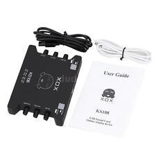 Brand New XOX KS108 USB Audio Mixer Sound Card for Recording Speech MG7B