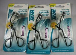 3X Trim Professional Eyelash Curlers & Refill Pads Black Color