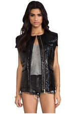 Shakuhachi Black Quilted Vest Size 12 As New