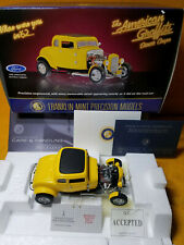 FRANKLIN MINT 1932 FORD AMERICAN GRAFFITI DEUCE COUPE LIMITED EDITION 1:24