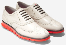 COLE HAAN Zerogrand Wingtip Oxford Men's Ivory Leather Red C29768