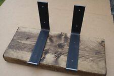 Steel Brackets - Pair Handmade Scaffold Board Retro Industrial Heavy Duty 225m