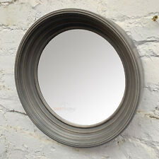 Industrial Deep Edge Frame Porthole Metal Framed Round Glass Wall Mounted Mirror