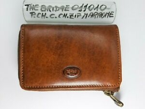 Portachiavi Corte - Chiuso - ZIP - Pelle - Marrone - Cod.011010 - The Bridge