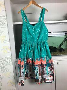 LINDY BOP 'BAMBI' DRESS - NEW YORK PRINT - SIZE 20 - BNWT