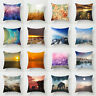 Sunset With Animal Pillow Case landscape Waist Throw Cushion Cover Home Decor