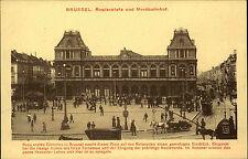 Brüssel Bruxelles Belgien Belgique AK ~1910 Rogierplatz Bahnhof Railway Station
