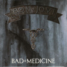 "BON JOVI Bad Medicine PICTURE SLEEVE 7"" 45 record NEW + juke box title strip"