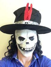 White Skull Mask Top Hat Day of the Dead Bond Fancy Dress Spectre Voodoo Let Die