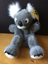 "Koala Plush main puppet avec Balises Australia Soft Toy Teddy Approx 12"""