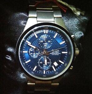 Seiko Alba Titanium Quartz Chronograph Watch