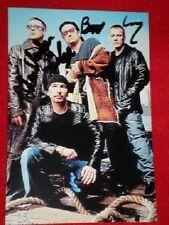 """U2 - FULLY HAND SIGNED - 6 x 4"""" PROMO PHOTO"""