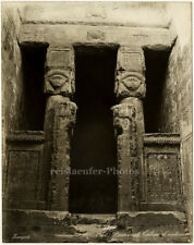 Dendera, Entry of Antinuos (?) by Zangaki, Orig. Photo, ca. 1900