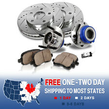 Front Brake Rotors and Hub Bearings Pads BUICK LUCERNE CHEVY IMPALA MONTE CARLO