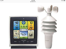 ACURITE PRO COLOR WEATHER CENTER 01301CCDI WIRELESS WIND TEMPERATURE HUMIDITY