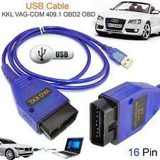 Cable USB KKL VAG COM 409.1 OBD2 II OBD Diagnóstico Escáner VW AUDI SEAT Cables
