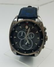 Y-London PN-20234 Big Dark Blue Watch Stainless Steel Case Back