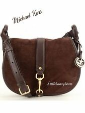 Michael Kors Jamie EXPRESSO Saddle Crossbody HandBag~Larger  $350 ~ SEE RECEIPT