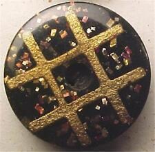 33 Antique Composite Buffalo Horn Buttons Mint on Card Plaid Rare