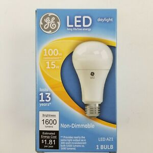 GE 100w Daylight LED A21 Non Dimmable Bulb 65764