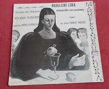 MADELEINE LUKA  INTERPRETE SES POEMES   ART COVER LUKA    DANIEL BOIVIN
