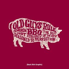 "OLD GUYS RULE "" BBQ PIG "" SMOKIN HOT / BEST OF THE REST / EXTRA SPICY / SIZE M"
