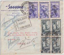 ITALIA 1951 5L QUARTINA +20L X3 LAVORO SU RACCOMANDATA DA MILANO X MORTARA PAVIA