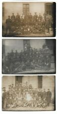 More details for 3 postcards lot czech army soldiers groups barracks czechoslovakia 1920s-1930s ?