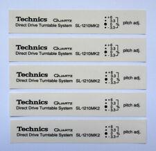 5 x Technics Sl1210 mk2 decal sticker self adhesive transparent - Printed Black