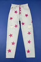 Armani jeans stars denim donna usato destroyed custom W28 tg 42 boyfriend T5575