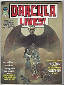 Dracula Lives! #1, 2, 3 & 4  ALL HIGHER GRADE! Great Artists Marvel Magazine!