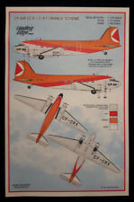 1/144 C-47 - DC3 CP Air Orange scheme decal set by Leading Edge Models