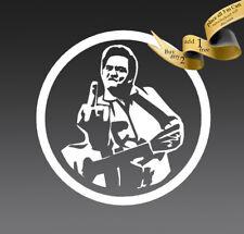 4 inch Johnny Cash FU Vinyl Decal Sticker CAR finger Guitar Misfits nin CASH it