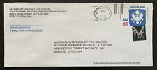 US Official Mail 39c Postally Used Stamped Envelope Cover #UO92 Fancy Cancel