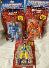 NEW Masters Of The Universe Lot of 3  Retro MOTU  Skeletor, Evil-lyn, Beast Man