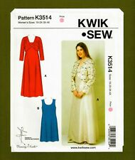 Evening Dresses & Bolero Sewing Pattern (Plus Sizes 1X-4X) Kwik Sew 3514