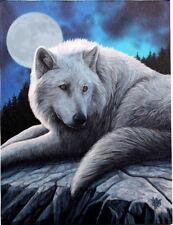 """Guardian of the North Canvas Plaque by Lisa Parker Wolf 10"""" x 7.5"""""""
