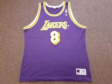 VTG 90s Champion NBA Los Angeles Lakers #8 Kobe Bryant Jersey Shirt Purple 48 XL