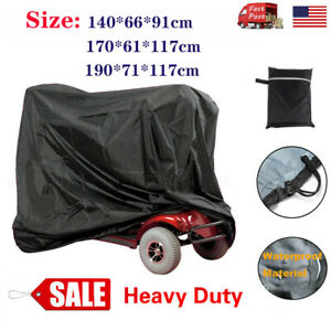 Heavy Duty Waterproof Mobility Scooter Wheelchair Cover  Rain UV Protection +Bag