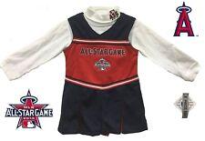 Los Angeles Angels ASG Toddler Girls Navy Cheer Jumper Dress Cheerleader Set 3T