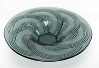 XL Art Deco Glasschale Schale Rauchglas 20er 30er Jahre glass bowl