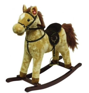 ABGee  Traditional Rocking Horse with Sounds & Dark Wood Base **NEW**