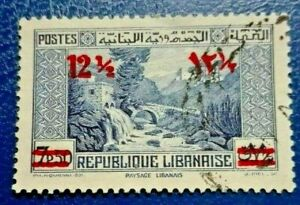 LEBANON:1938 -1942 Previous Stamps Surcharged  Collectible & Rare Stamp.