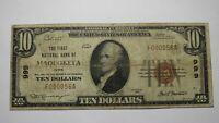 $10 1929 Maquoketa Iowa IA National Currency Bank Note Bill Ch. #999! FINE RARE